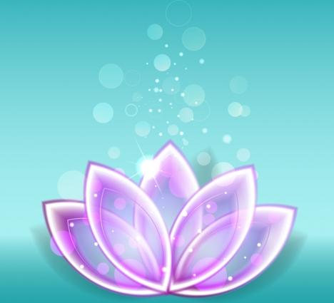 lotus background purple icon shiny sparkling bokeh decor