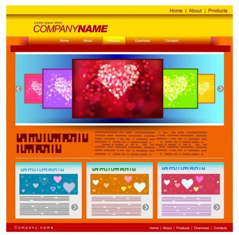 love website templates