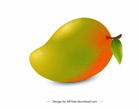 mango fruit icon shiny colored design
