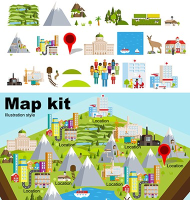 Map kit clean style
