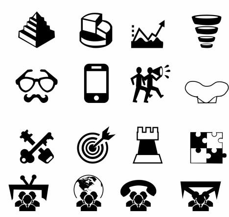 Marketing and Media icons