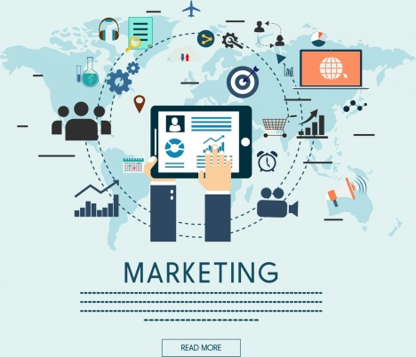 marketing concept banner webpage style circle connection