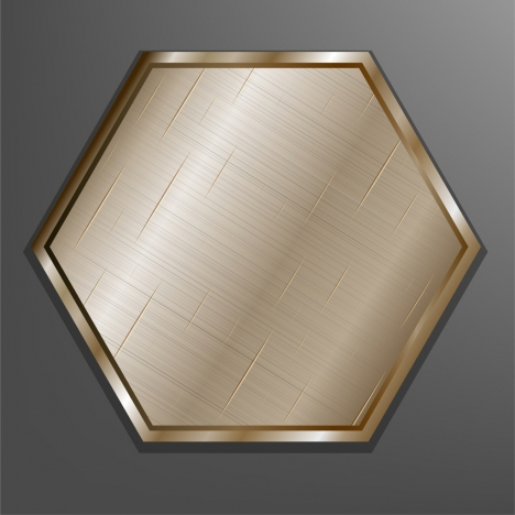 metal background shiny golden polygon