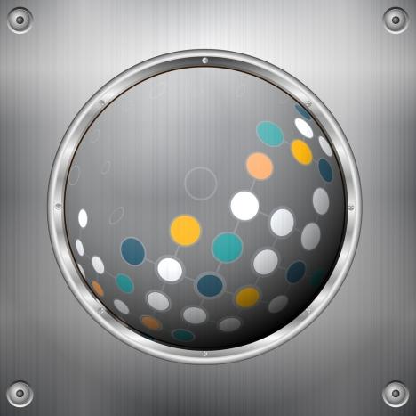 metal background shiny round icon colorful circles decor