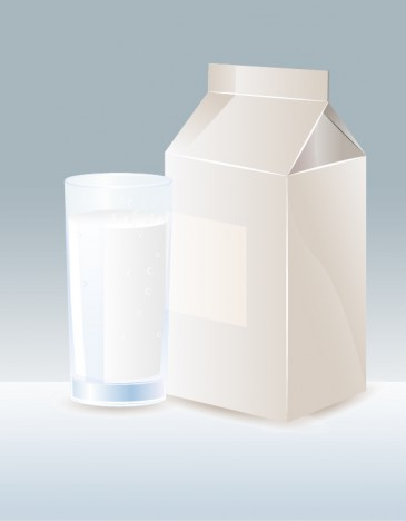 Milk with Straw and Carton