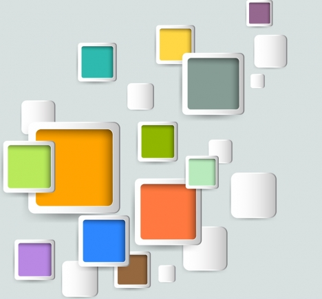 modern abstract background colorful squares isolation