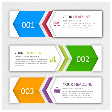 modern style infographic banner design sets