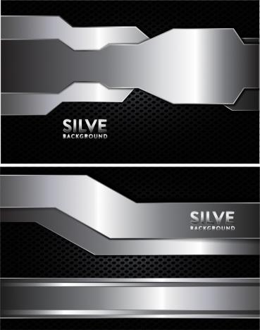 modern technology background shiny silver decoration