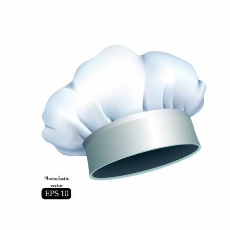 modern white chef hat