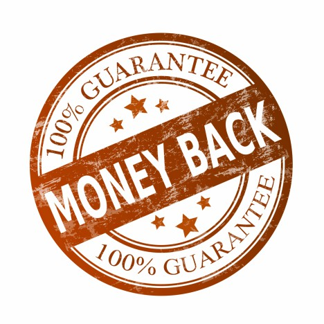 Money back guarantee - Stock Image