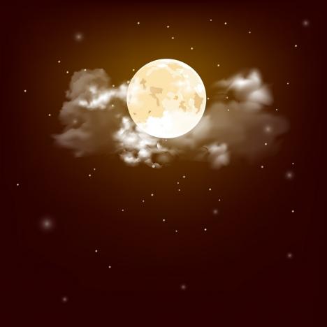 moon sky painting modern twinkling design