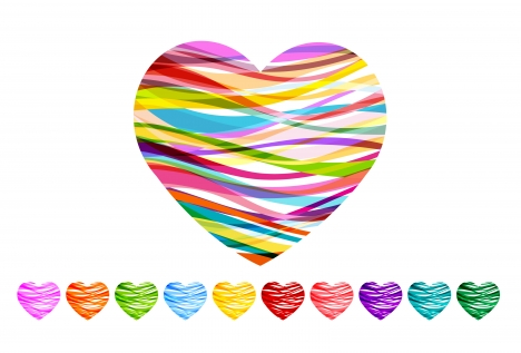 multicolor heart shape