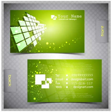name card design with green modern style