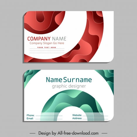 Name Card Template Modern Flat Deformed Curves Decor Vectors Stock In Format For Free Download 685 88kb