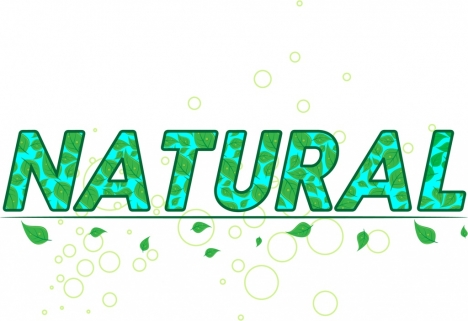 natural background design green leaves and words decoration