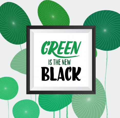 natural leaves background green circles decor