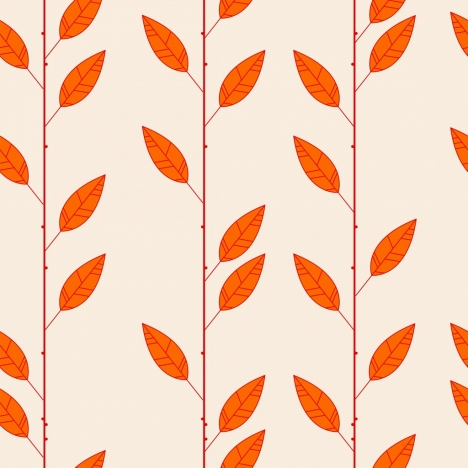 nature background repeating red leaves pattern decor