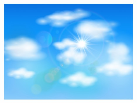 Nature background with sky