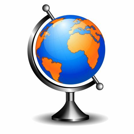 Object classic globe vector art