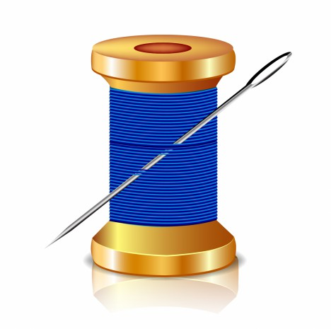 Object needle and thread vector art