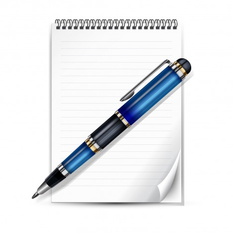 Object pen notepad vector art