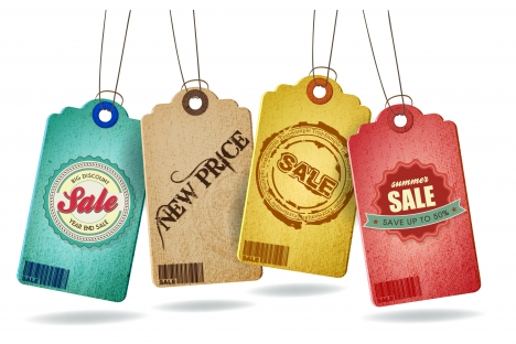 old carton sale tags