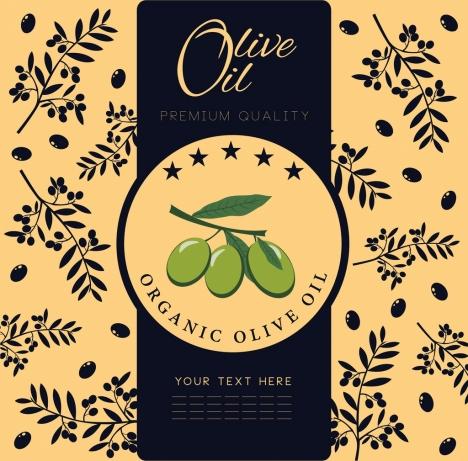 olive oil advertisement fruit background classical design