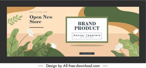 openning banner template elegant classic botanical decor