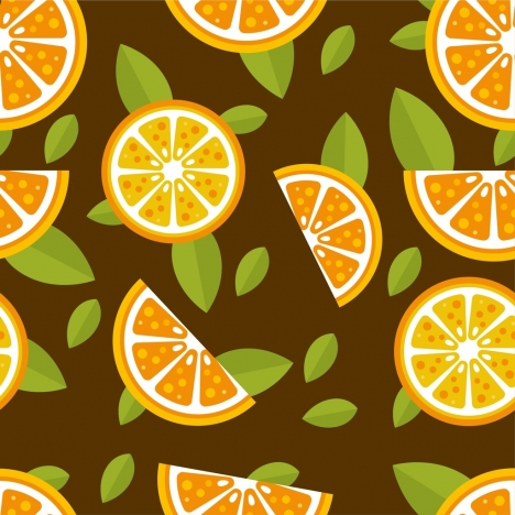 orange pieces background colored repeating style
