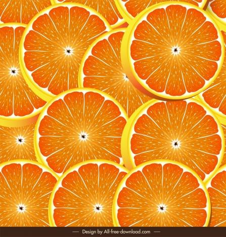 orange slices pattern colored modern design