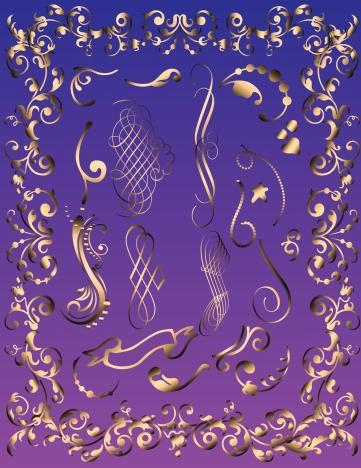 ornamental decorative collection illustration