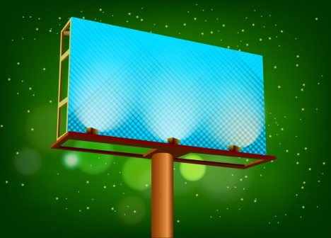outdoor advertising panel shiny blue design pole structure