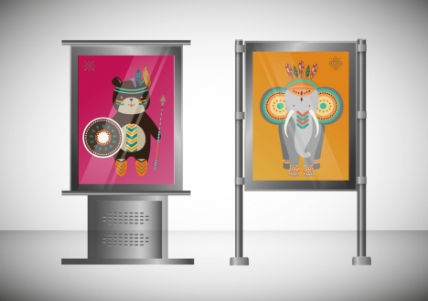 outdoor advertising panels tribal style decoration modern design