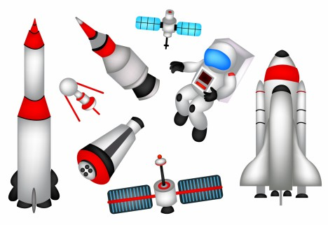 Outer space elements vectors stock in format for free for Outer space elements