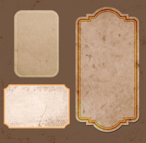 paper frames collection grunge retro design