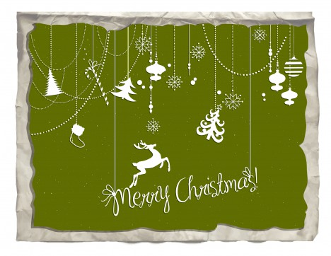 paper merry christmas card decor