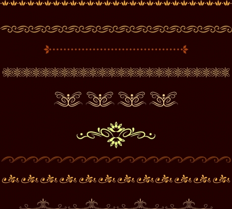 pattern ornament design elements classical repeatable curves decoration