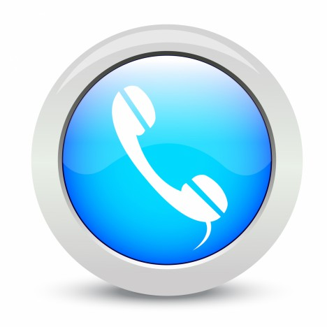 phone isolated on white background - Stock Image