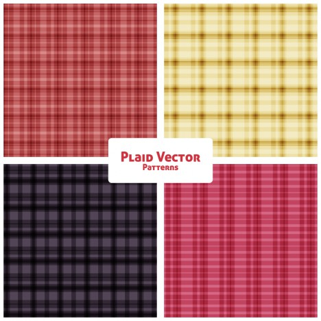 plaid fashion vector patterns