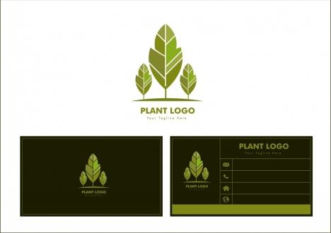 plant logo design green tree icon ornament