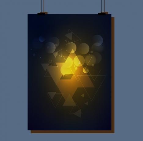 poster design contrast light effect style geometric decoration