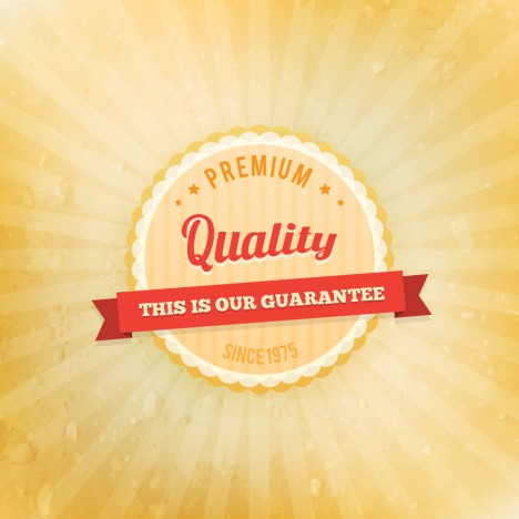 premium quality vintage badge design