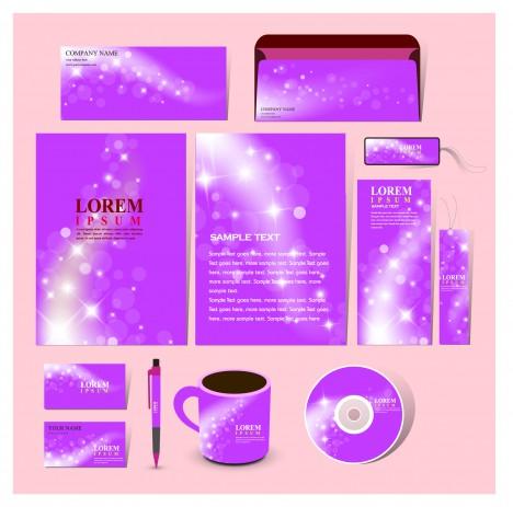 purple corporate identity template
