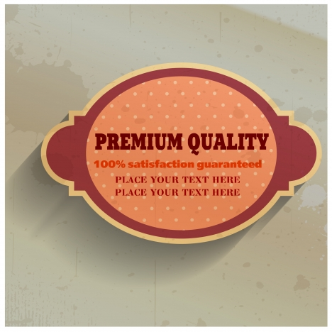 quality assurance sticker with spots background