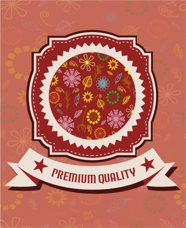 quality warranty stamp classical floral decoration style