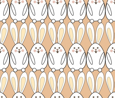 rabbit background design repeating pattern style