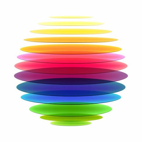 Rainbow sphere
