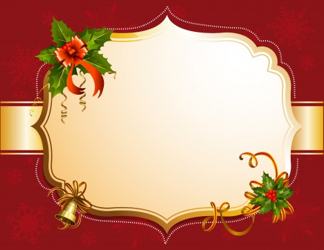 Red christmas frame
