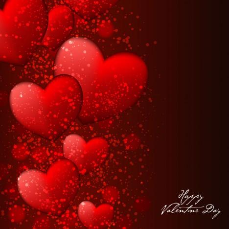 red heart happy valentine day background
