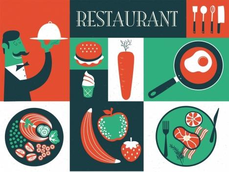 restaurant background classical dark red green design